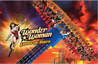Wonder Woman Lasso of Truth at Six Flags Discovery Kingdom