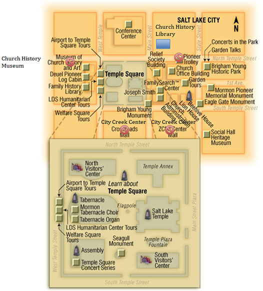 Temple Square Salt Lake City Utah Vacation Information