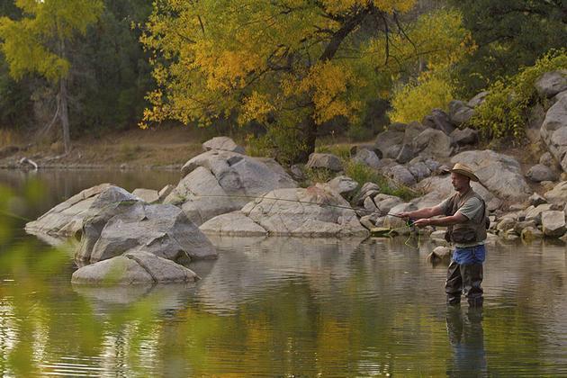 Fly fishing at goldwater lake for Arizona fly fishing