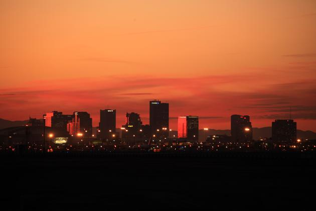 Downtown Phoenix at Sunset