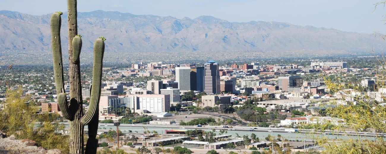 Tucson arizona travel vacation guide tucson arizona skyline sciox Images